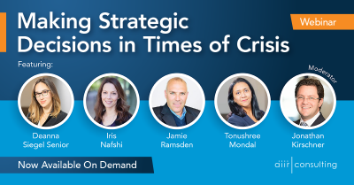 [On Demand Webinar] Making Strategic Decisions in Times of Crisis