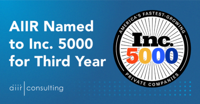 AIIR Named to Inc. 5000 for Third Year